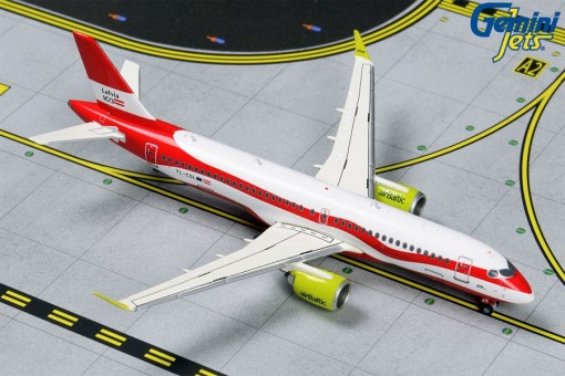 """Air Baltic Airbus A220-300 (CS300) YL-CSL """"Latvia 100"""" Gemini GJBTI1839 scale 1:400"""