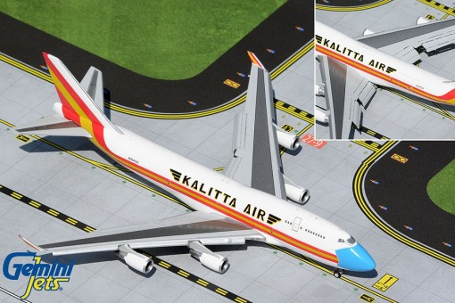 New Mould! Flaps down Kalitta Air Boeing 747-400(BCF) N744CK (mask livery) Gemini Jets GJCKS1999F scale 1:400