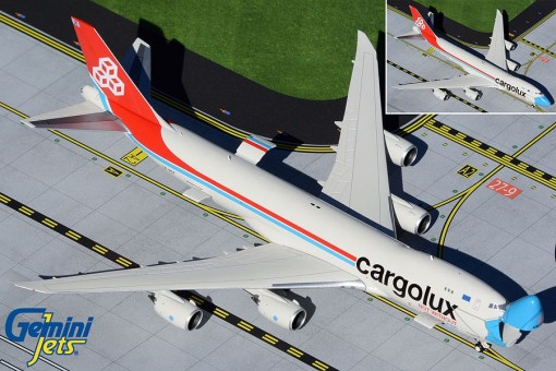 Cargolux Airlines Interactive Series Boeing B747-8F Not Without My Mask LX-VCF Gemini Jets GJCLX1954 scale 1:400