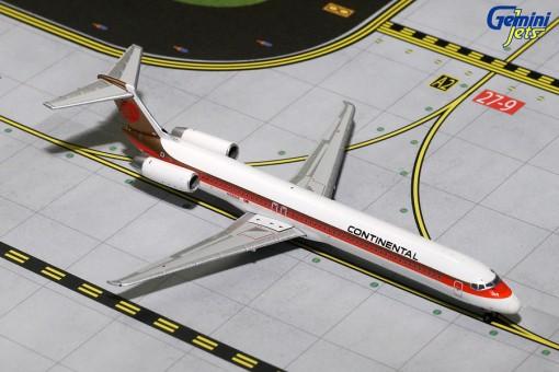 Continental Air Lines McDonnell Douglas MD-82 Reg# N9801F Gemini Jets GJCOA1166 Scale 1:400