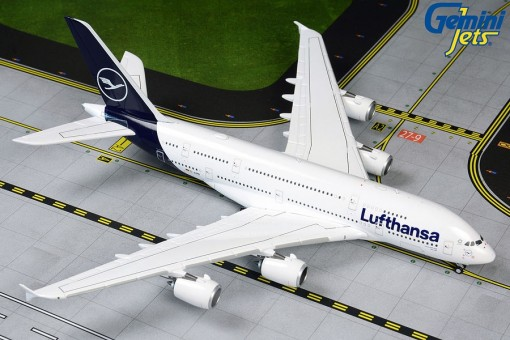 Lufthansa New Livery Airbus A380 Gemini Jets GJDLH1842 scale 1:400