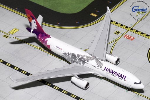 Hawaiian Airlines A330-200 New Livery Reg# N380HA Gemini Jets GJHAL1787 Scale 1:400