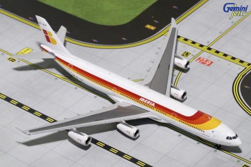 Iberia Airbus A340-300 Reg EC-GUP Old Livery Gemini GJIBE1630 Scale 1:400