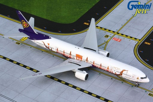 Thai Airways Boeing 777-300 HS-TKF Royal Barge Gemini GJTHA1891 scale 1:400