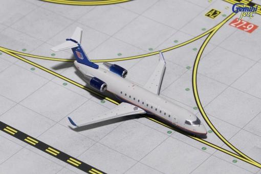 United Express Bombardier CRJ-200 Gray Livery Reg# N417AW Gemini Jets GJUAL1633 Scale 1:400