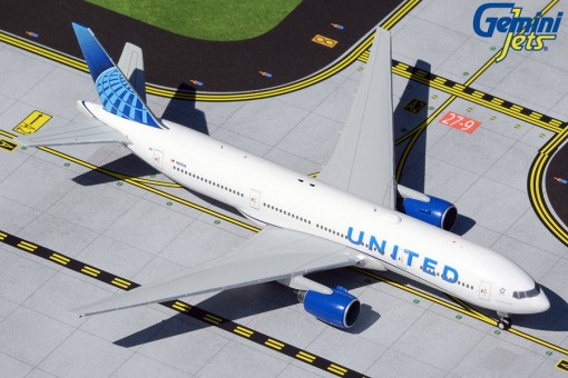 United Airlines Boeing 777-200 N210UA  new livery Gemini Jets GJUAL1939 scale 1:400