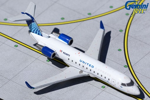 United Express Bombardier CRJ-200LR new livery N246PS Gemini GJUAL1966 scale 1:400