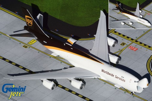 UPS with Interactive Cargo doors Boeing 747-8F N606UP Gemini Jets GJUPS1899 scale 1:400