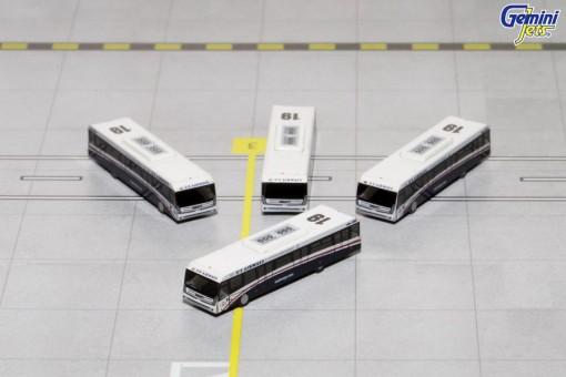 US Airways Cobus 3000 Set of 4 Buses GJUSA1533 Die-Cast Scale 1:400