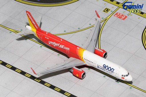 Vietjet Airbus A321 Sharklets VN-A651 9000th Airbus Gemini Jets GJVJC1446 Die-Cast Scale 1:400