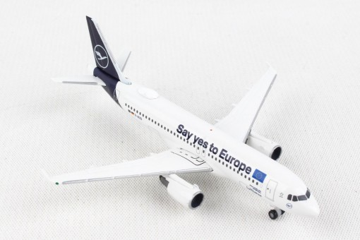 """Lufthansa Airbus A320 """"Sindelfingen"""" """"Say Yes to Europe"""" D-AIZG Herpa Wings 533614 scale 1:500"""