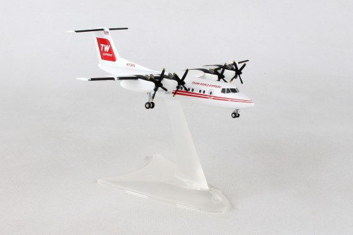 Trans World Express Dash 7 DHC-7 registration: N173RA Herpa 559041 Scale 1:200