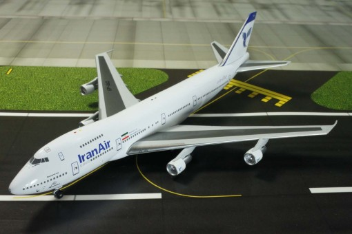 witty wings, die cast scale model 747 iran air
