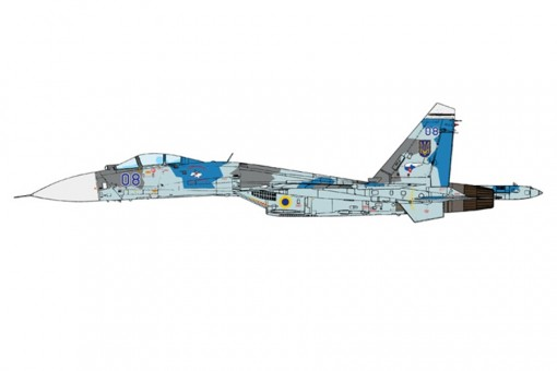 "Ukranian Air Force Sukhoi Su-27 Flanker-B ""Blue 08"" wings JCW-72-SU27-001 Scale 1:72"