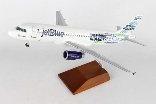 "JetBlue Airbus A320 ""Bluemanity"" Stand & Gears Skymarks Supreme SKR8343 1:100"
