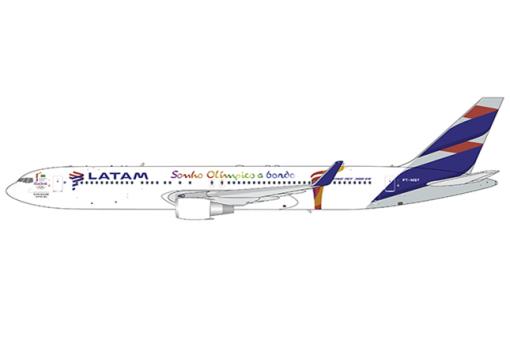 LATAM Boeing 767-300ER PT-MSY Rio 2016 Livery JC wings JC4LAN244 scale 1:400