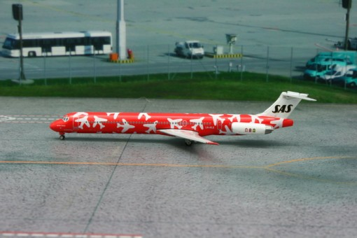 Red Scandinavian Airlines MD-82 Kettil Viking Reg# LN-RLE Phoenix 1:400