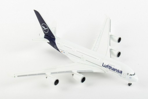 Lufthansa New Livery Airbus A380 D-AIMB Deep Blue colors Herpa 533072 scale 1:500