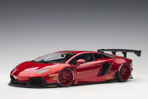 Metallic Red Liberty Walk LB-Works Lamborghini Aventador AUTOart 79109 scale 1:18