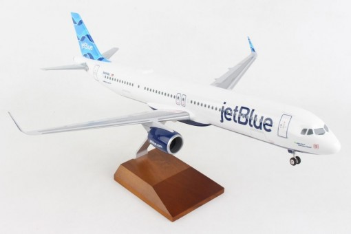 Mint jetBlue Airbus A321neo N4048J wood stand &gear Skymarks Supreme SKR8426 scale 1:100
