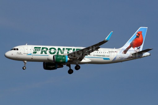 Frontier New Livery A320 Reg# N228FR Red Cardinal Velocity Models Scale 1:400