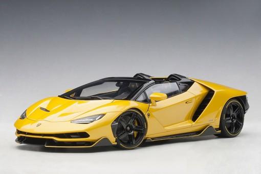 Pearl Yellow Lamborghini Centenario Roadster Giallo Int AUTOart 79117 scale 1:18