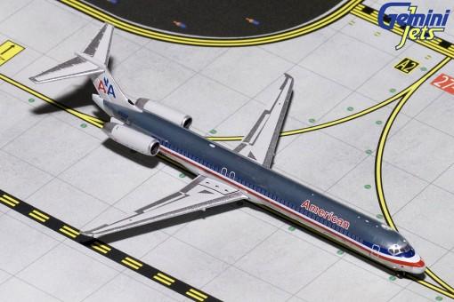 Polished American McDonnell Douglas MD-80 N9621A Gemini GJAAL1794 scale 1:400