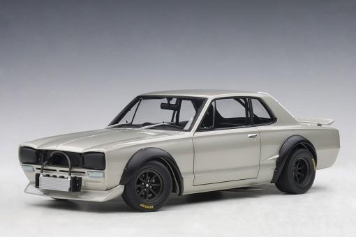Silver Nissan Skyline GT-R (KPGC-10) Racing 1972 AUTOart 87277 scale 1:18