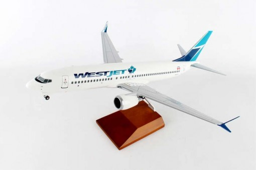 WestJet Boeing 737-Max8 Wood stand and Gears Skymarks Supreme SKR8265 Scale 1:100