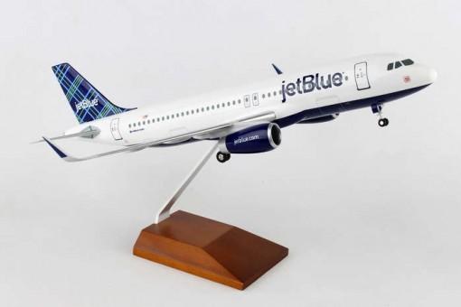 "JetBlue Airbus A320 ""Tartan"" stand & gears Skymarks Supreme SKR8354 1:100"