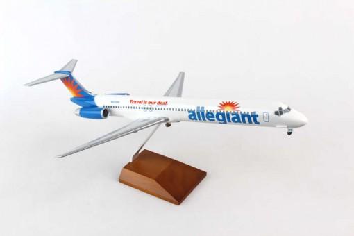 Allegiant Air McDonnell Douglas MD-80 w/ Gear & Wood Stand Reg N415NV Skymarks SKR8611 Scale 1:100