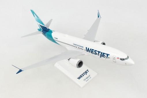 WestJets Boeing 737-Max8 w/stand Skymarks SKR994 scale 1:130
