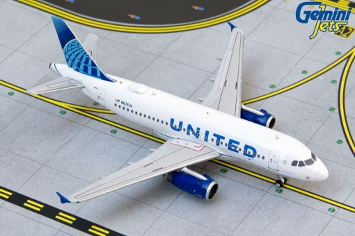 United Airlines New Livery Airbus A319 N876UA GJUAL1914 scale 1:400