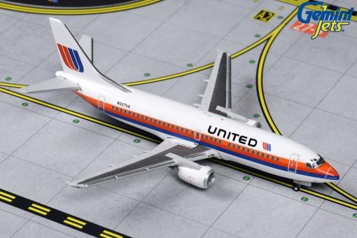 United Airlines Retro Saul Bass Boeing 737-300 Gemini Jets N327UA GJUAL1203 scale 1-400