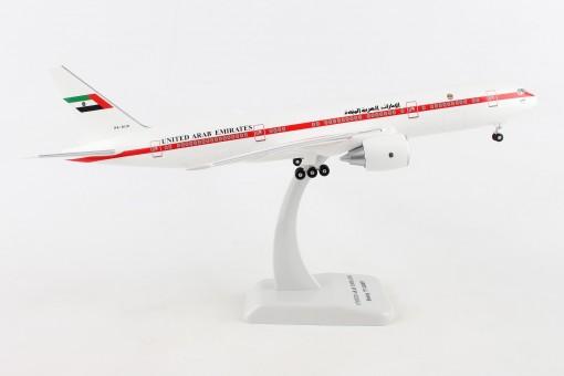 United Arab 777-200 Amiri Flight A6-ALN stand & gears Hogan HG10949G 1:200
