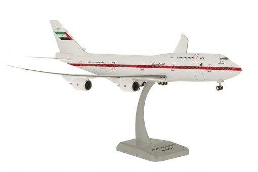 United Arab Emirates Boeing 747-8 gear & stand Hogan HG11090G scale 1:200