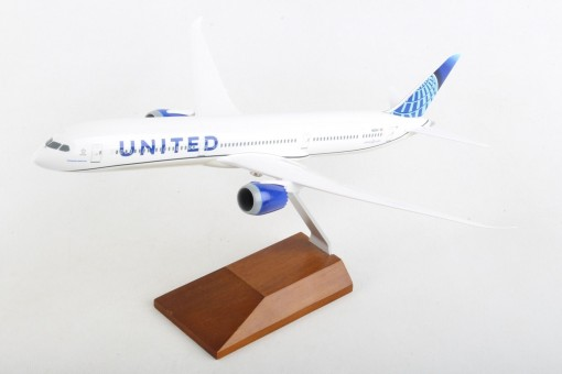 United New Livery Boeing 787-10 N12010 Longest Dreamliner wood stand Skymarks SKR5170 scale 1-200