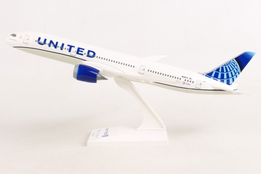 United New Livery Boeing 787-9 N29975 Dreamliner stand Skymarks SKR1046 scale 1:200