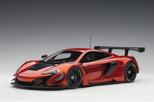 Volcano Orange McLaren 650S GT3 Black accents AUTOart Model 81642 1:18