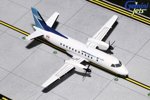 Westjet Canada Saab 340B C-GPCF Gemini 200 die-cast G2WJA782 scale 1:200