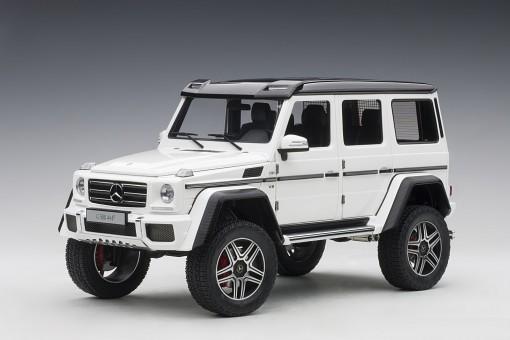 White Mercedes G500 4X4 2 gloss die-cast model AUTOart 76316 scale 1:18