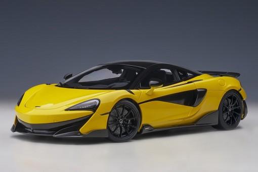 Yellow McLaren McLaren 600LT Sicilian Yellow die-cast AUTOart model 76082 scale 1:18