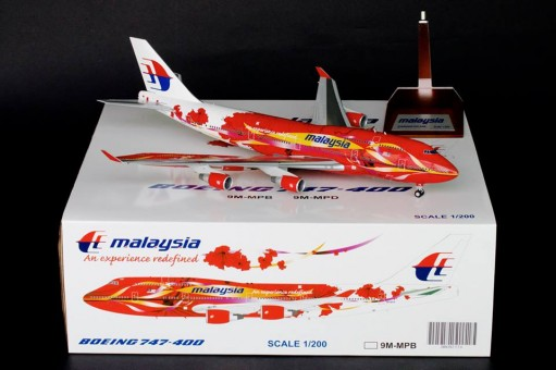 Malaysia Hibiscus Livery B747-400 Reg# 9M-MPB BlueBox BBOX2526 1:200
