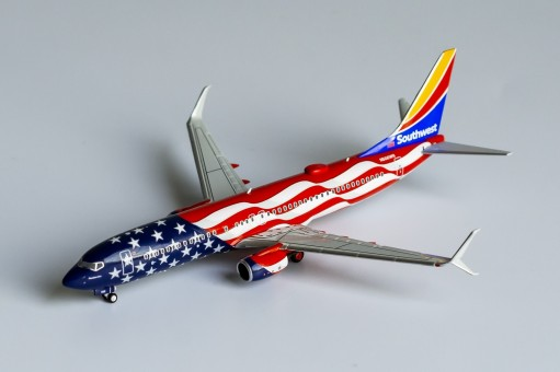"""Southwest """"Freedom One"""" Boeing 737-800 N500WR scimitar winglets NG Models 58110 scale 1:400"""