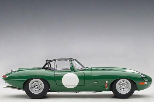Jaguar Lightweight E-Type 73648 Dark Green AUTOart Die-Cast Scale Model 1:18