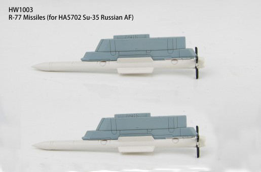 HW1003 R-77 missiles and launch rail for Russian Su-35 Hobby Master scale 1:72