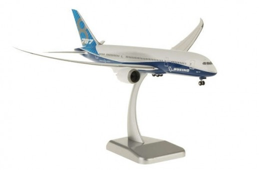 Boeing House 787-8 Dreamliner Blue with gears and stand Hogan HG10857G scale 1:200