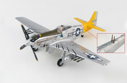 Signed! P-51D Mustang 1st Lt. William G Ebersole 462nd FS 506th FG 7th AF 1945 Hobby Master HA774a 1:48