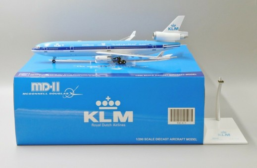 """KLM MD-11 PH-KCE """"The world is just a click away"""" with stand JC2KLM423 scale 1:200"""