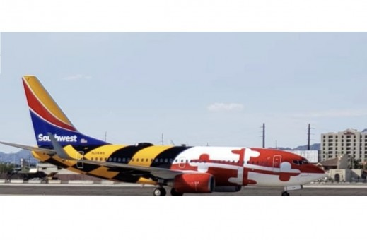 Southwest Maryland One Boeing 737-800W N214WN new Heart One tail livery NG Models scale 1:400